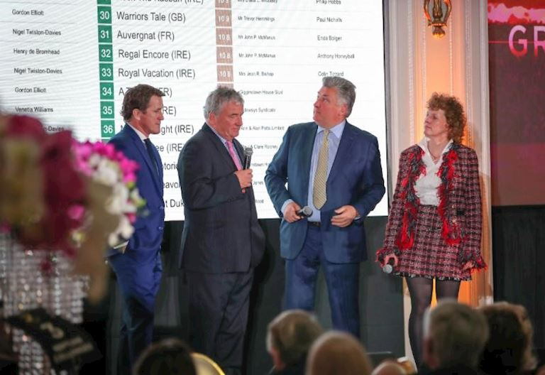Sir A P McCoy, Nigel Twiston-Davies, Paul Nicholls and Lucinda Russell.jpg