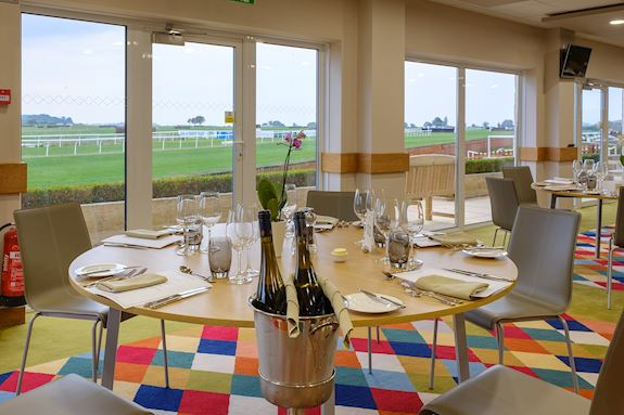The view from our Chasers Restaurant at Wincanton Racecourse