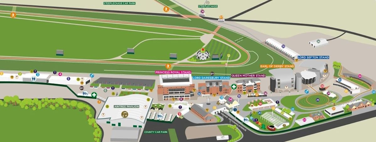 Aintree Racecourse Map Aintree Racecourse Map | Plan Your Day | Aintree Aintree Racecourse Map