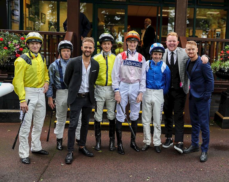 (8) Jockeys with Jack Shepherd, Mikey North and Colson Smith.JPG