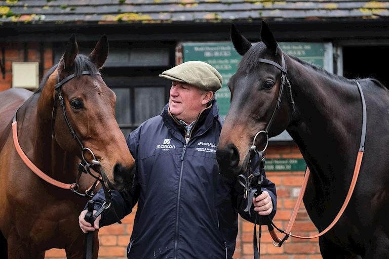 Paul Nicholls with Clan Des Obeaux and Cyrname